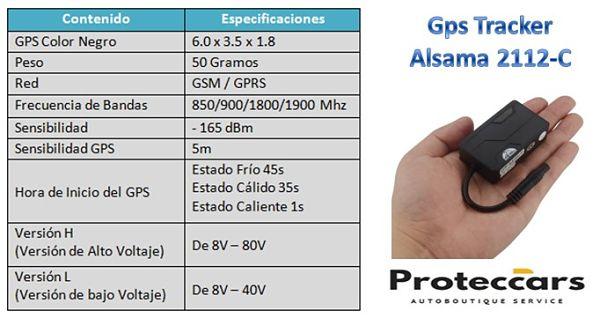 Características del Gps Tracker Alsama 2112-C