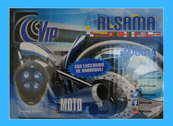 Caja Alarma Alarma de Moto Alsama MA201