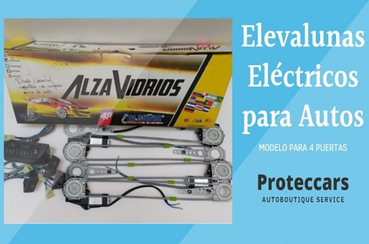 ELEVALUNAS ELÉCTRICO 4 PUERTAS