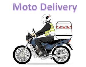 Moto Delivery, Imagen de muestra sobre el Servicio a Domicilio.