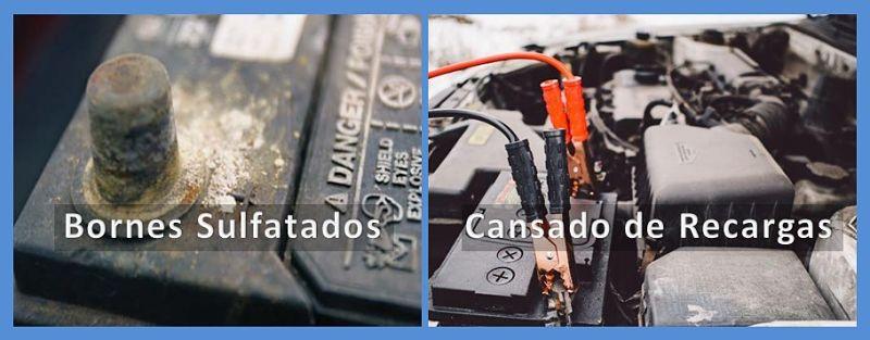 Bornes de baterías para autos Sulfatados y cansado de recargas