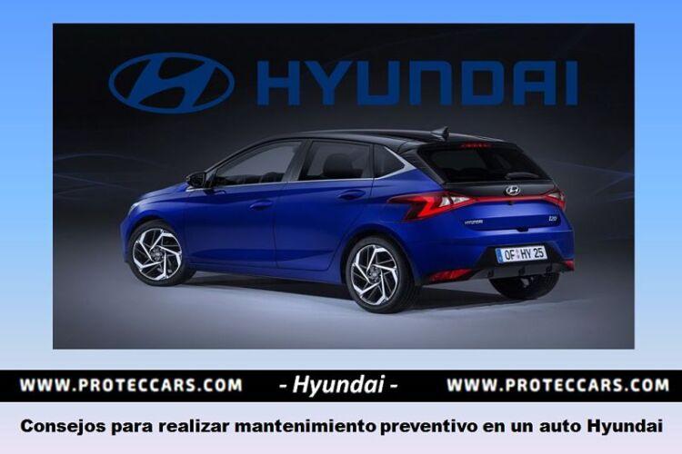 Consejos para realizar mantenimiento preventivo en auto Hyundai