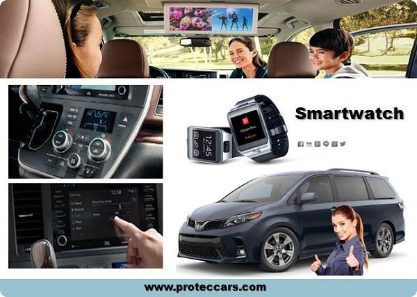 Smartwatch adaptable en la de tecnología de la Toyota