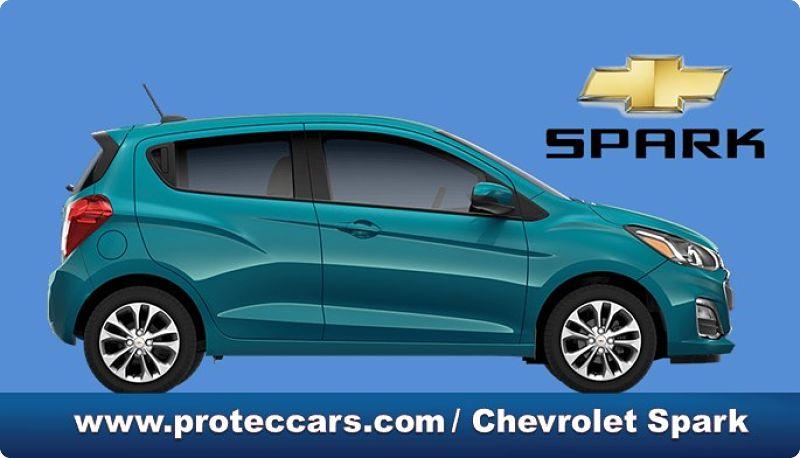 Chevrolet Spark, vista lateral del vehículo
