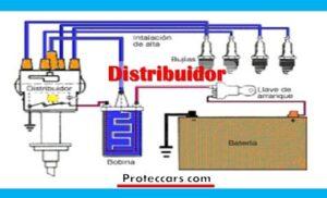 Distribuidor eléctrico de un auto