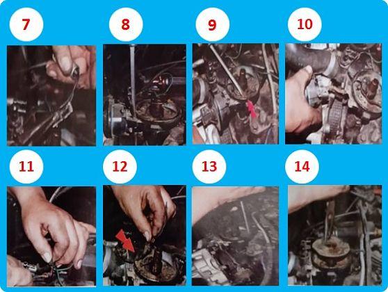 Pasos 7 al 14 sobre el mantenimiento del distribuido