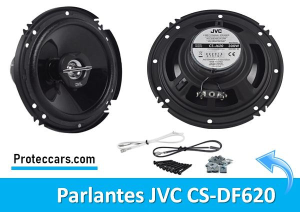 Mejores altavoces para coche JVC CS j 620 Mostrando Parte Posterior