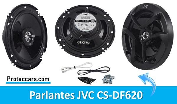 Parlantes JVC CS-DF620 vista lateral y Posterior
